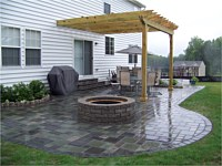 Patio With Firepit and Pergola